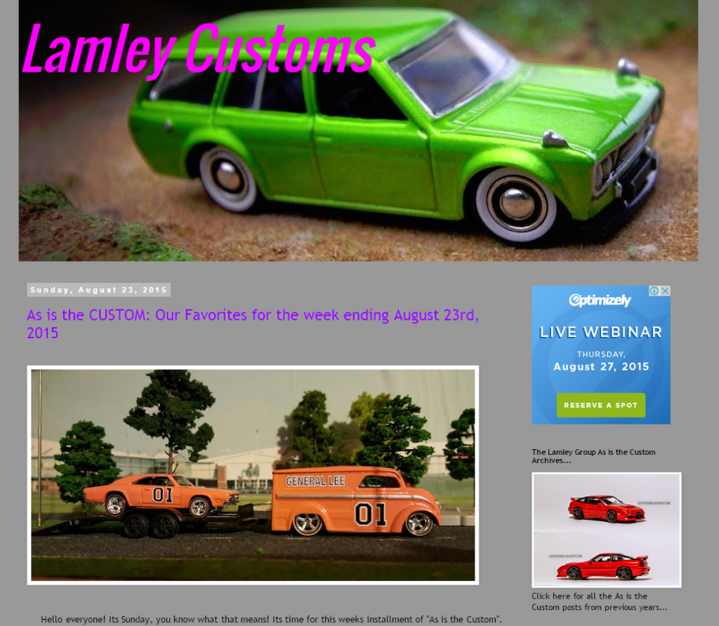 my first lamley customs feature