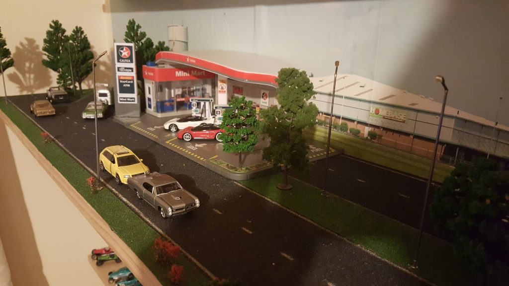 a diecast world in a 1:64 scale diorama