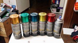 Dupli colour metallic spray paints