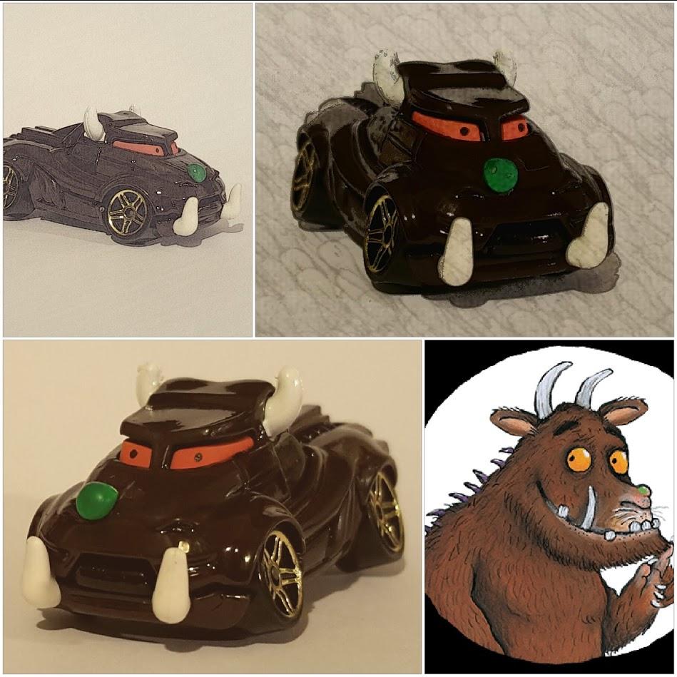 custom diecast hotwheels gruffalo