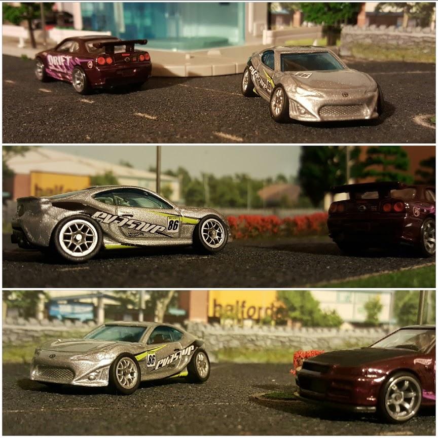 toyota gt86 and nissan skyline gtr34 diecast cars