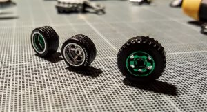 the process of making deep dish wheels for hotwheels