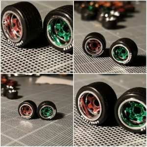 work meister style deep dish wheels for 1:64 scale cars