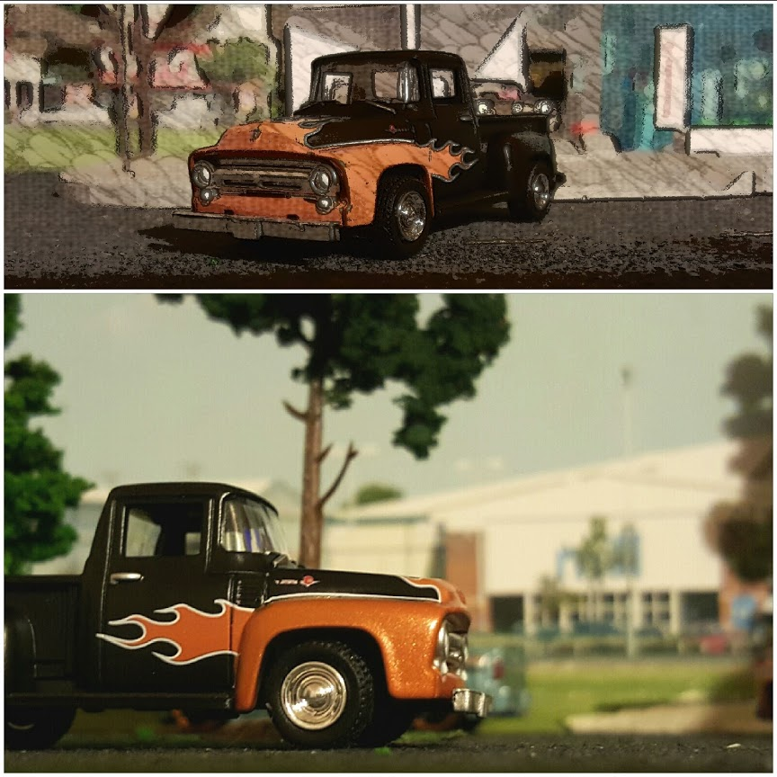 custom 56 ford diecast pickup by greenlight
