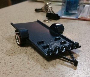 how to make a flatbed trailer for your diecast cars
