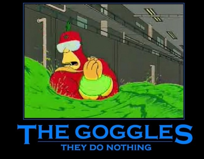 the goggles do nothing