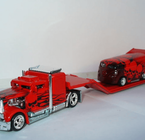 sits2low - custom truck and dragbus red
