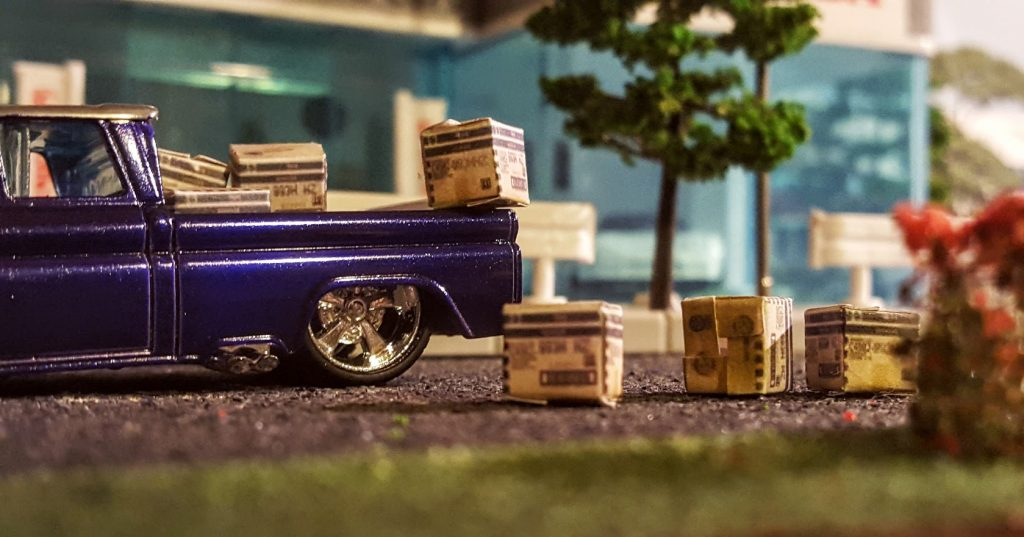tiny hotwheels boxes in custom 62 chevy