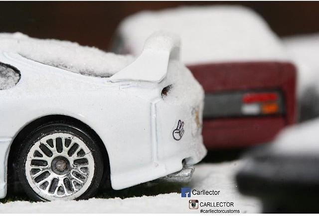 carllector white christmas custom hot wheels