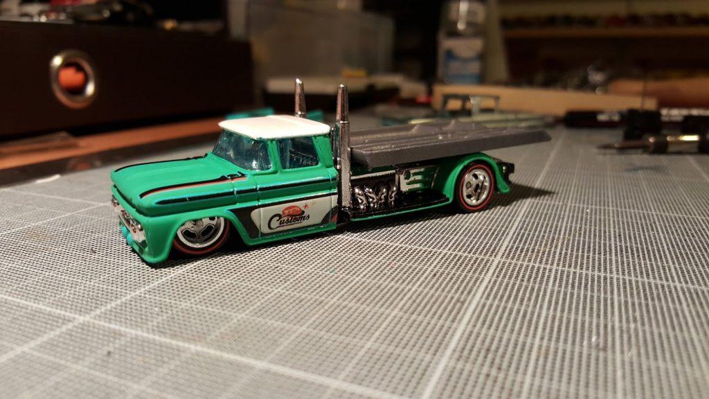 custom 62 chevy hauler in 1/64 scale diecast