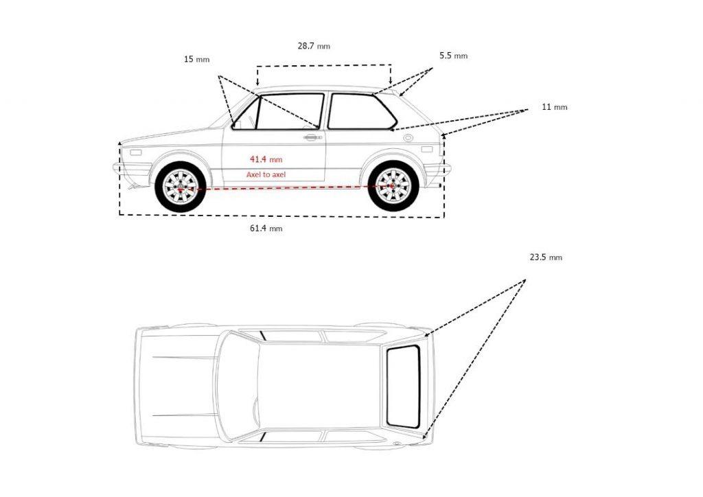how to make a custom hotwheels VW Golf Mk1 15
