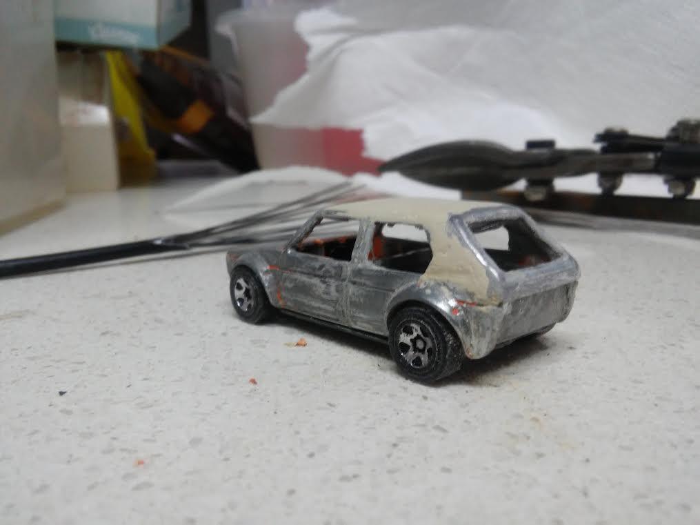 how to make a custom hotwheels VW Golf Mk1 7