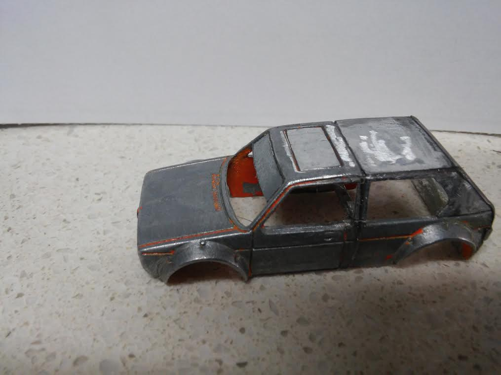 how to make a custom hotwheels VW Golf Mk1 9