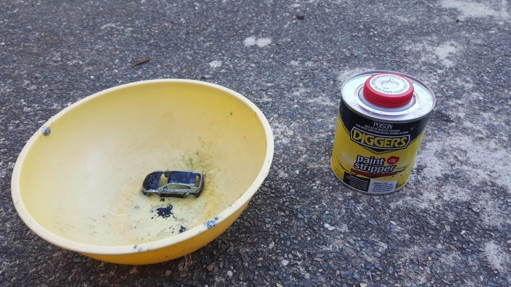 how to strip paint from hot wheels