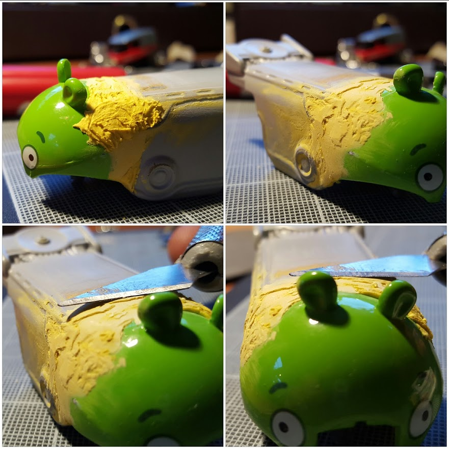 making the angry birds minion pig drag bus