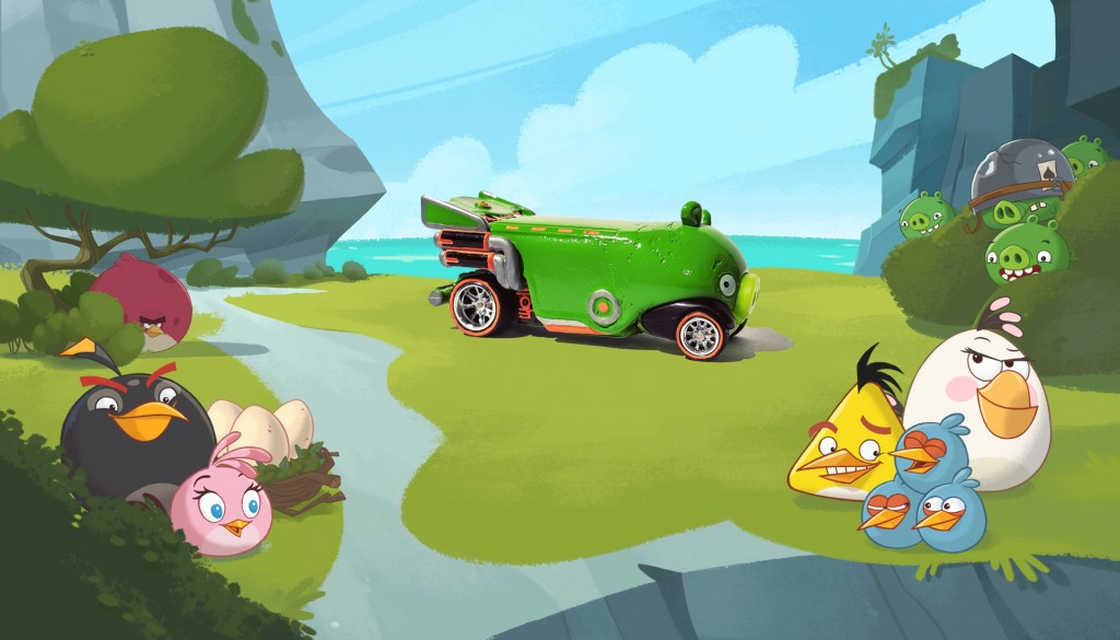 minion pig bus with background 4