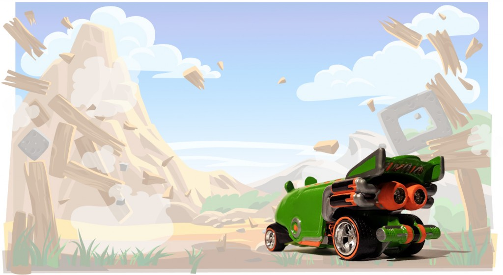 minion pig bus with background 8c