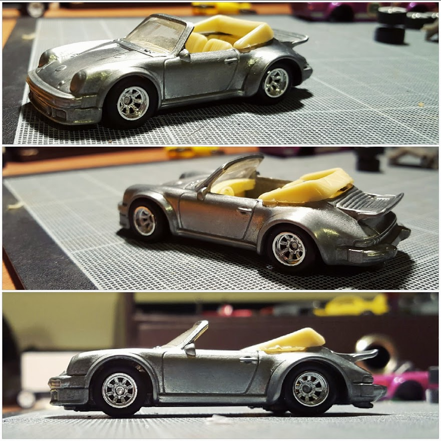 Porsche custom hotwheels no colour
