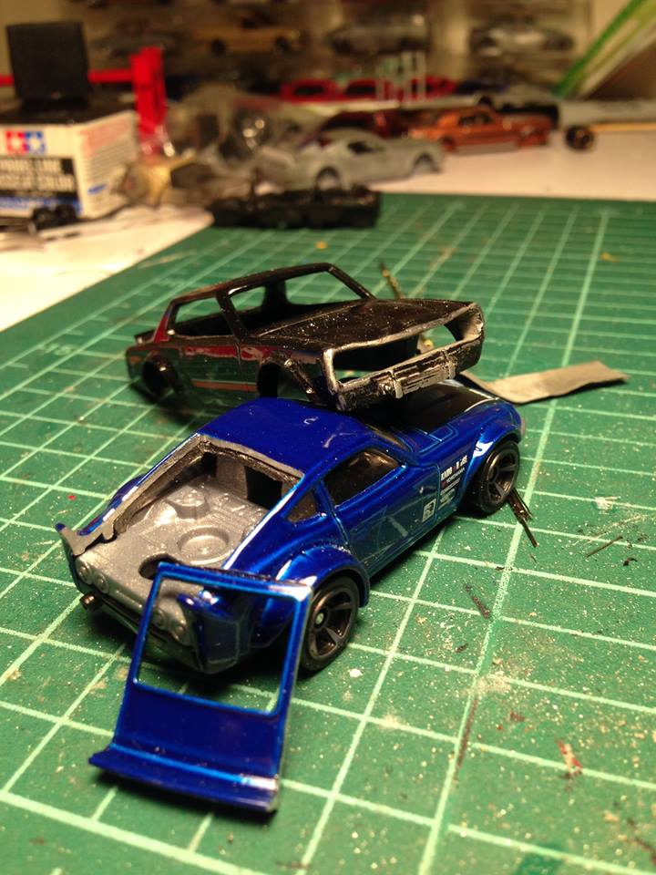 how to create opening panels on hot wheels diecast cars