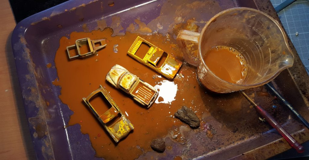 how to rust hot wheels diecast cars - first stages 1