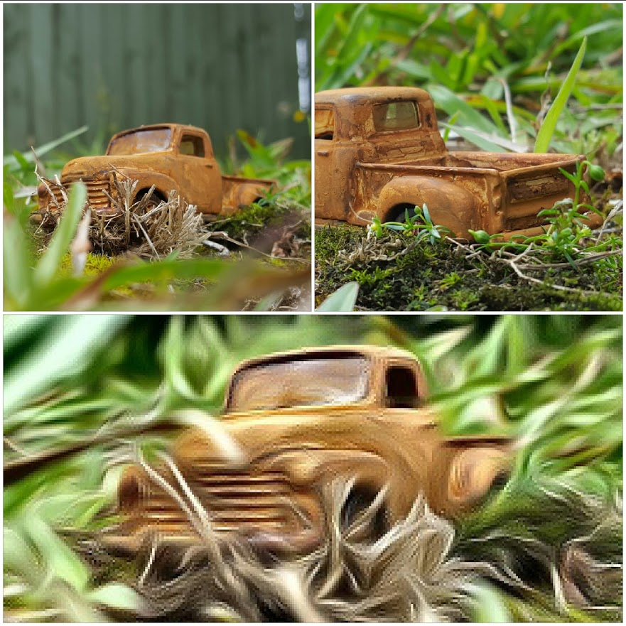 rusted 53 chevy pickup collage 1