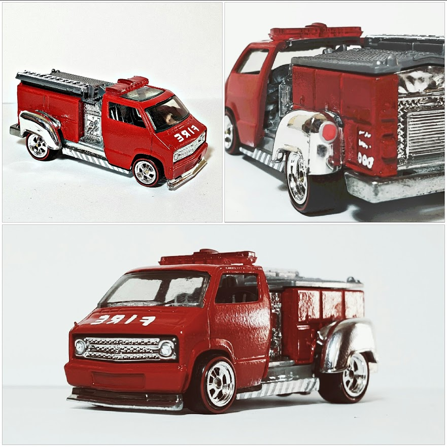 Dodge Van Firetruck collage 1