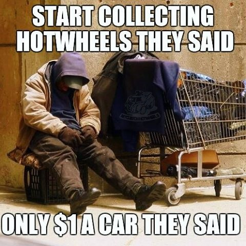 start collecting hotwheels they said... a diecast meme