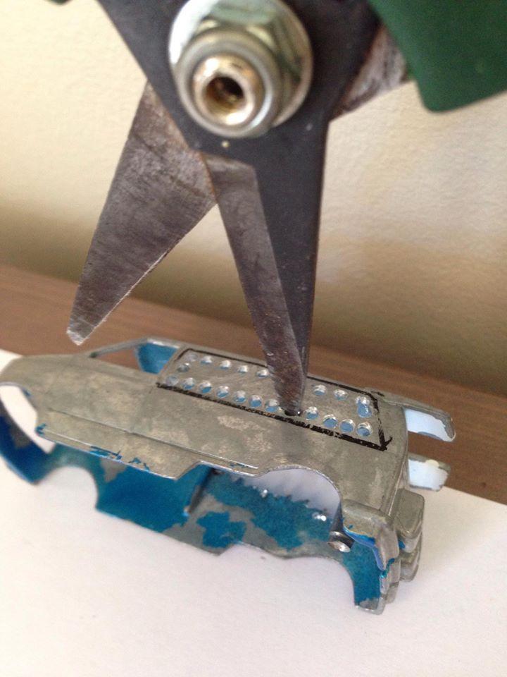 Richards hack method of cutting hot wheels cars