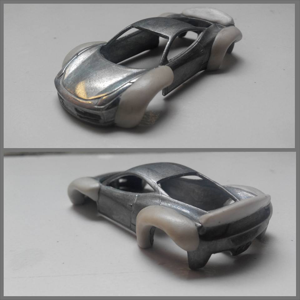 how to make a rocket bunny widebody kit for hot wheels