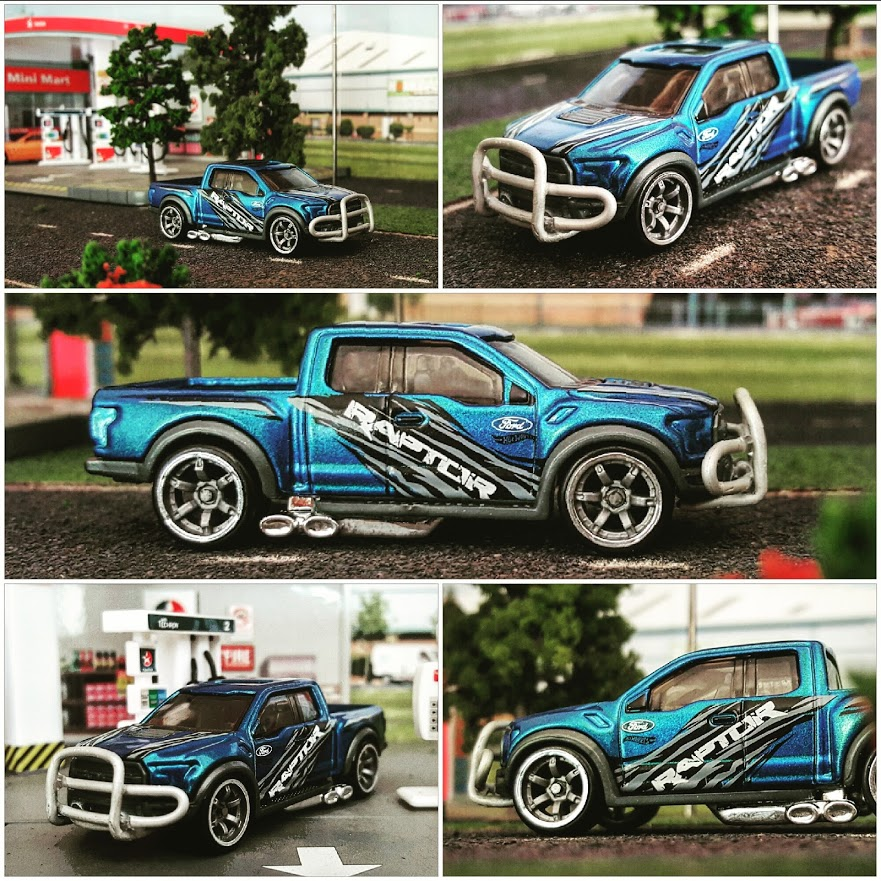 Custom Hot Wheels Ford Raptor lowered on CM6 wheels