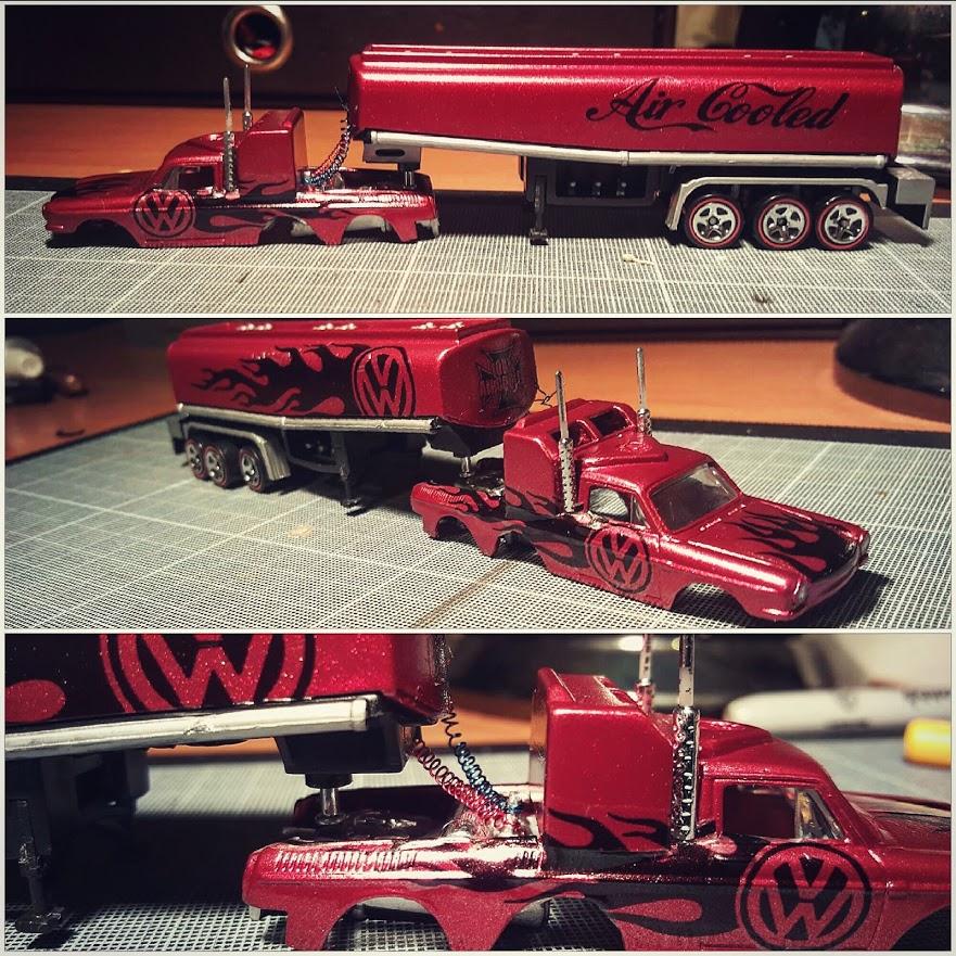 Custom Hot Wheels Volkswagen Squareback Tanker Truck