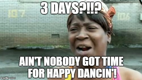 aint no time for dancing