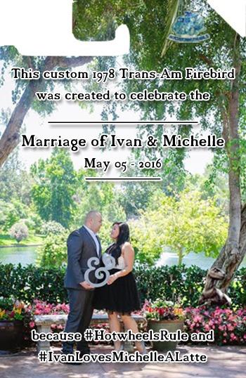 Custom Trans Am Firebird Wedding Card Back