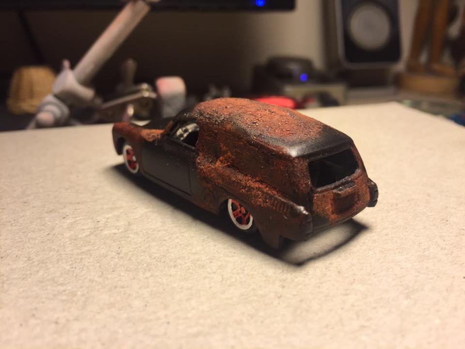 How to create rust effect on Hot Wheels diecast cars
