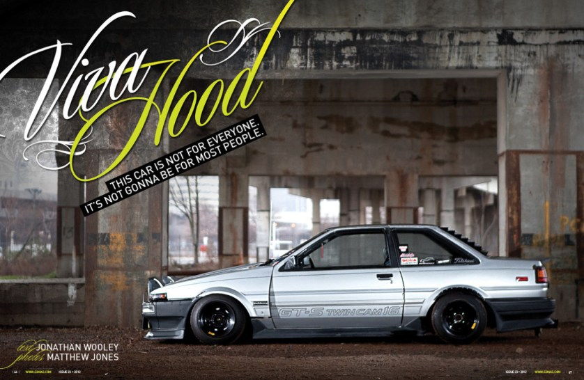 vviva hood feature car: AE86 corolla owned by Justin Shubert
