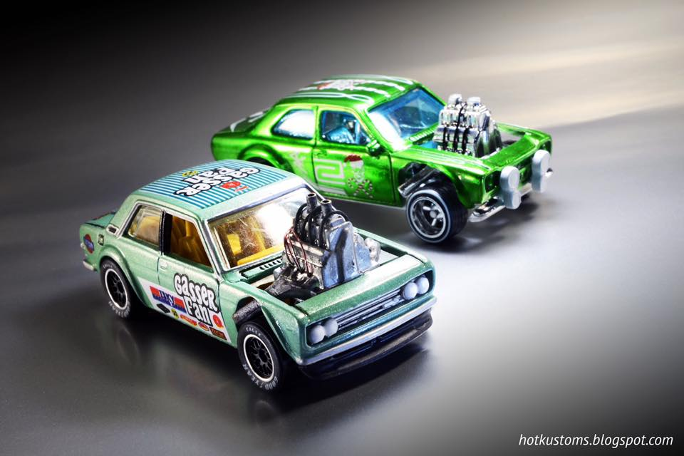 HotKustoms Gasser Powered Datsun 510 and Escort RS1600