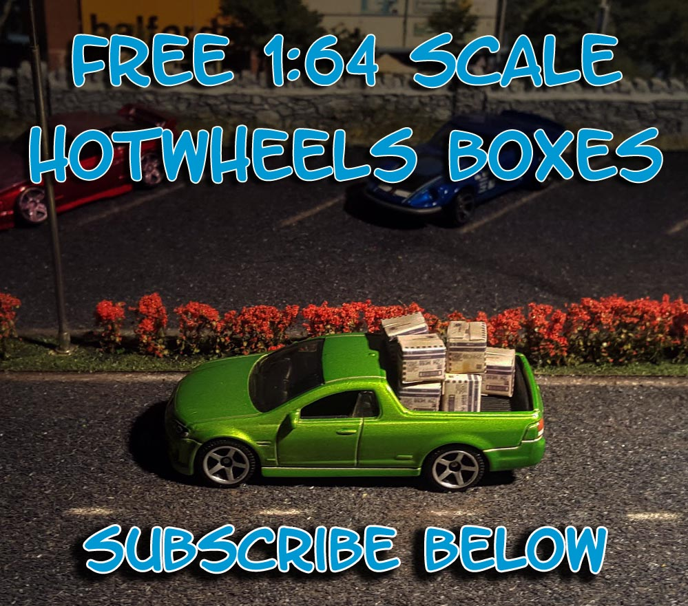 Free 1/64 scale Hot Wheels boxes