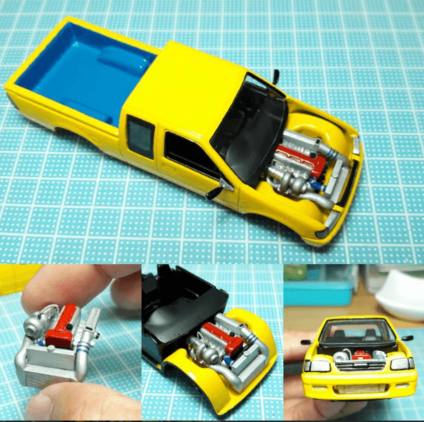 TJ Garage - the master of 1:64 scale engines and detailing