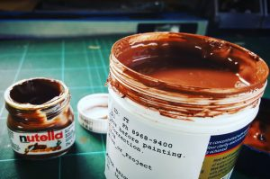 colour matching paint to nutella