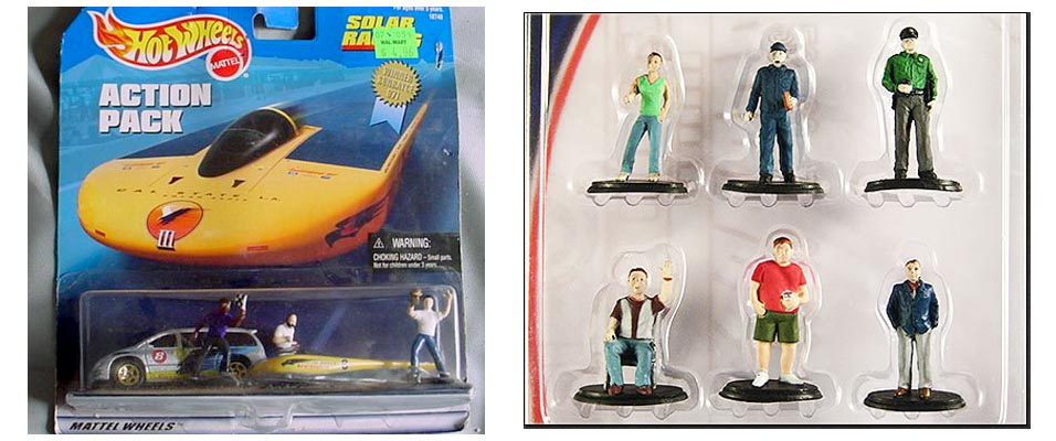 Greenlight and Hot Wheels Diorama Figures Fail
