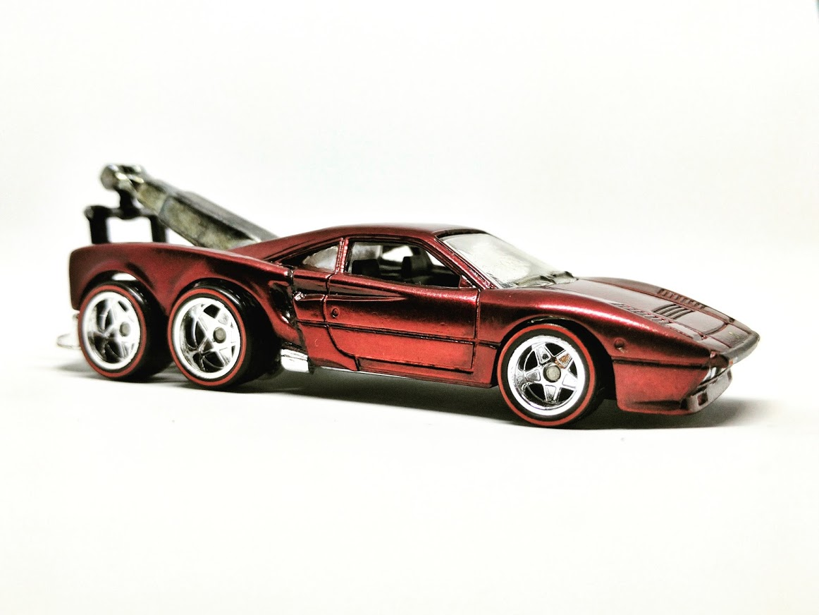 ferrari tow   gtow truck  custom hot wheels