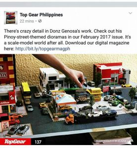 diorama diecast world in 1:64 scale with Donz Genosa