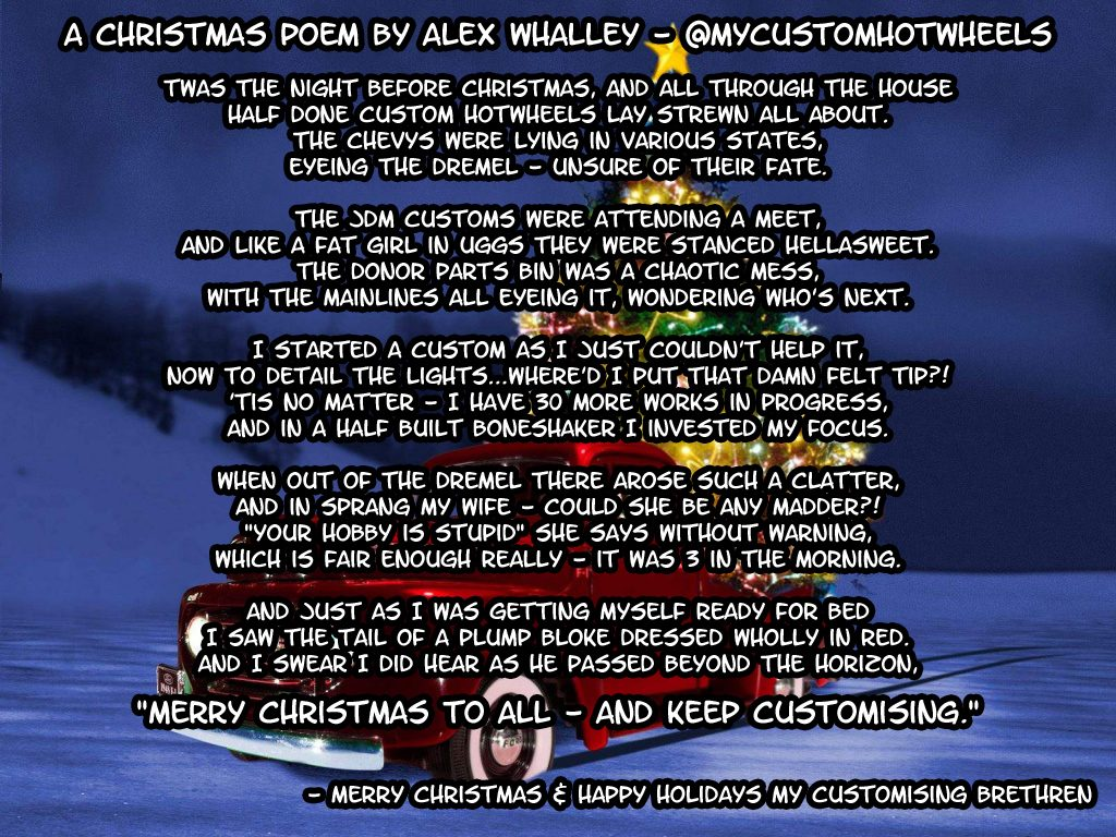 a Christmas Poem by Alex Whalley