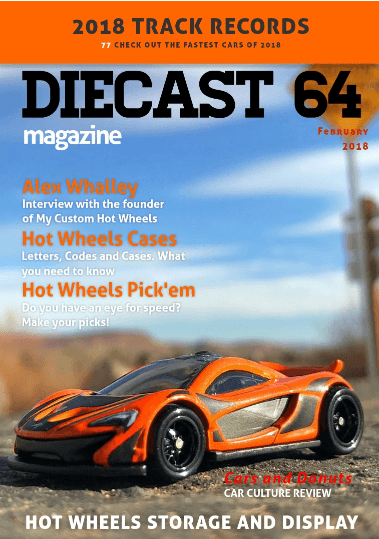 My Custom Hot Wheels features in February Issue of Diecast 64 Magazine