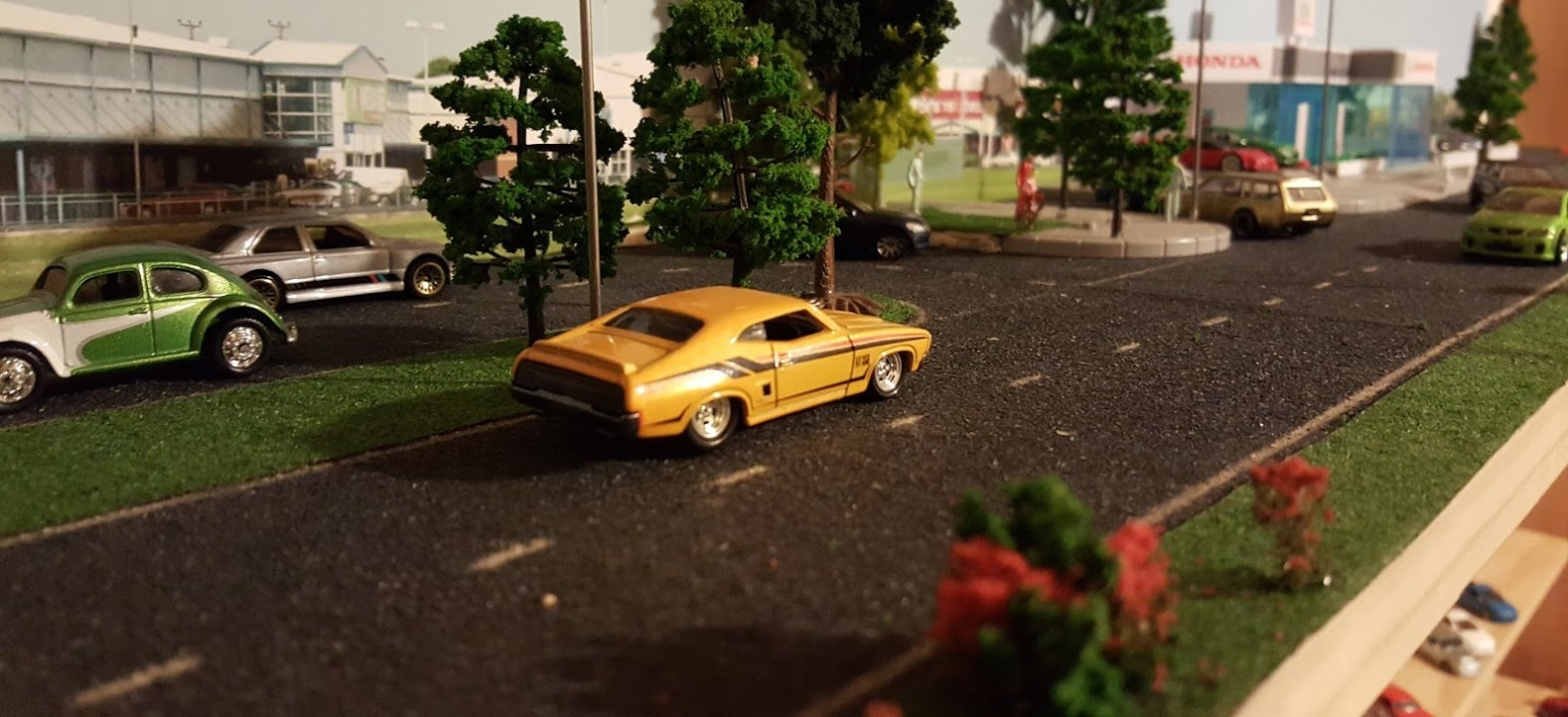 how to make a 1 64 scale diorama hotwheels diecast cars. Black Bedroom Furniture Sets. Home Design Ideas