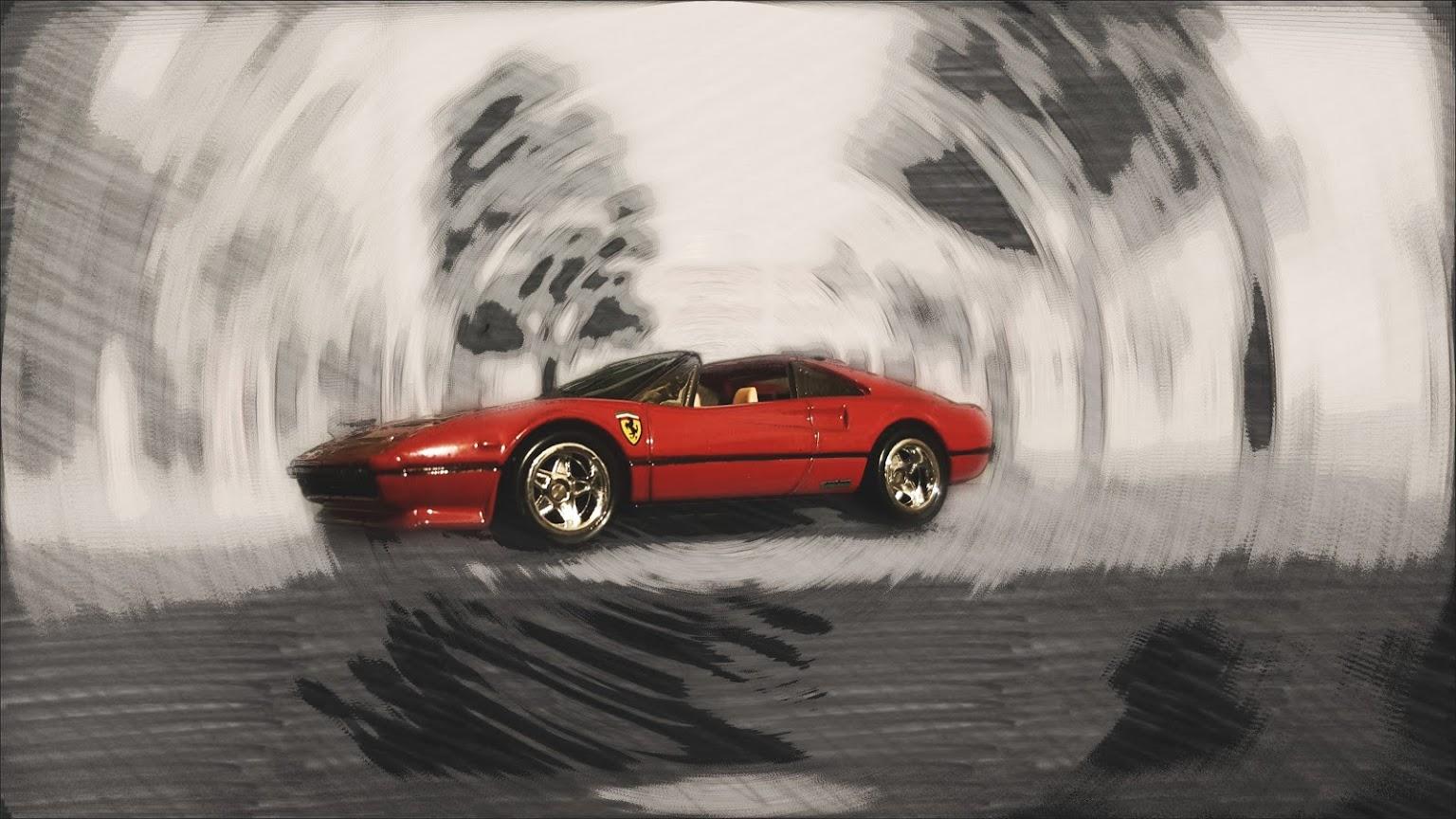 Ferrari 308 spin blur - Custom Hot Wheels & Diecast Cars