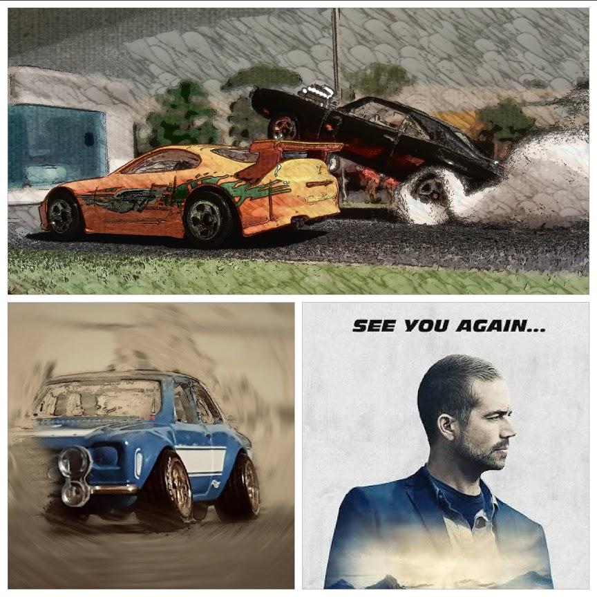 paul walker ford escort diecast cars tribute