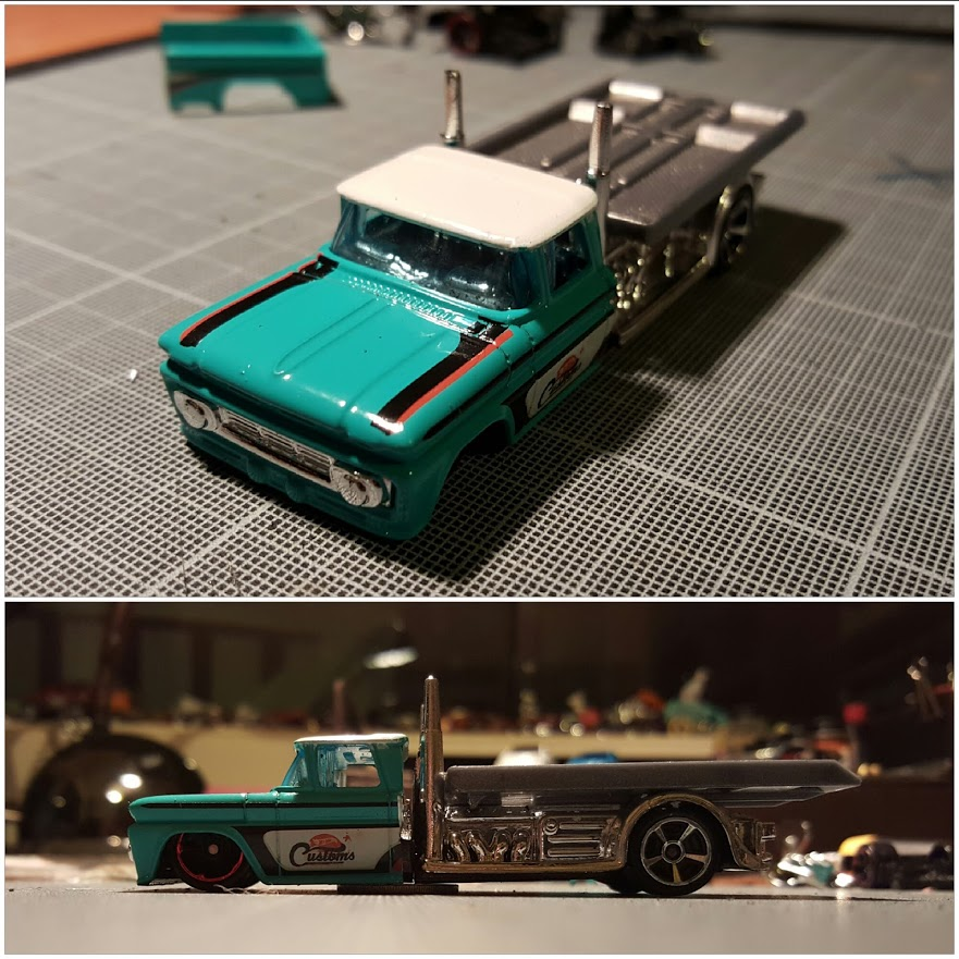 custom 62 chevy hauler in 1/64 scale diecast