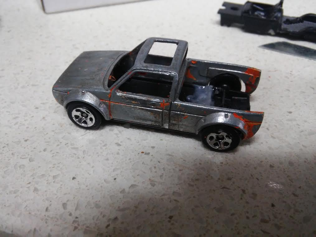 how to make a custom hotwheels VW Golf Mk1 2