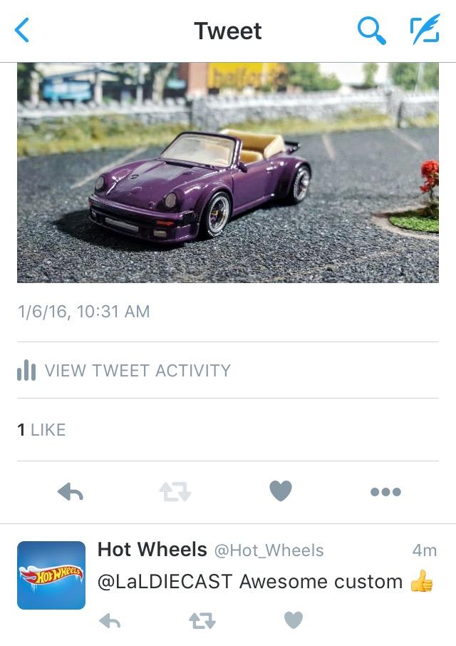 Hotwheels approves - Porsche Cab
